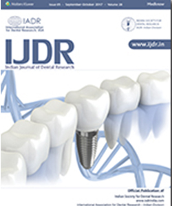 Indian Journal Of Dental Research 1