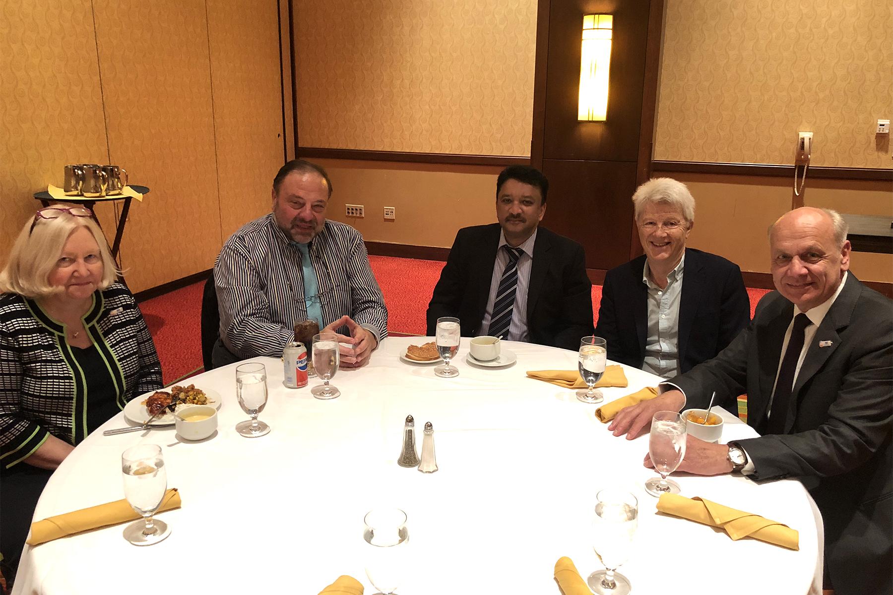Dr Sm Balaji At A Luncheon Meet With Dr Kathryn Kell, President, Fdi, Dr Nikolai Sharkov Council Member