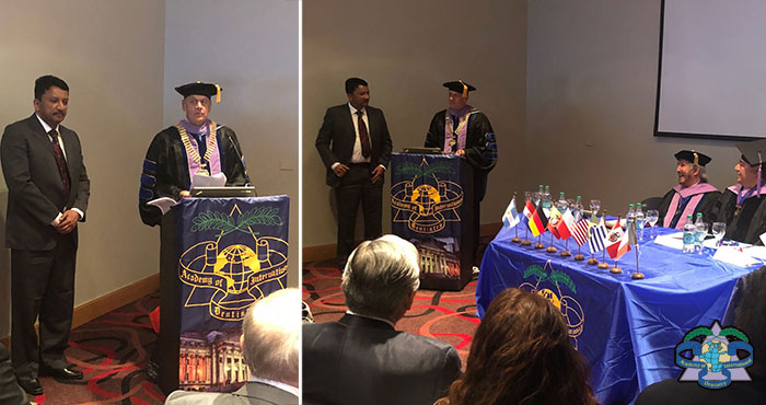Dr Sm Balaji At President Of Adi Dr Gerhard Seeberger's Welcome Speech At The Academy Of Dentistry International Convocation In Buenos Aires, Argentina
