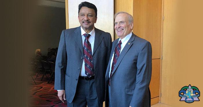 Dr Sm Balaji With Dr Robert Ramus, Executive Director, Adi